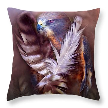 Heart Of A Hawk Throw Pillow