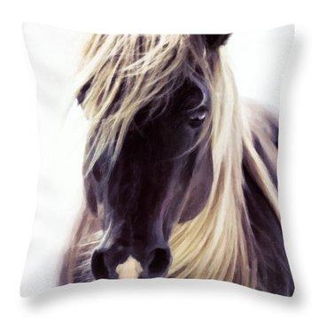 Heart Of A Horse Throw Pillow