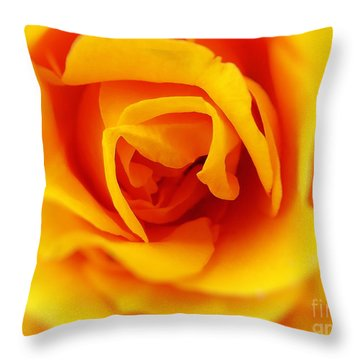 Heart Of A Rose Throw Pillow by Ella Kaye Dickey