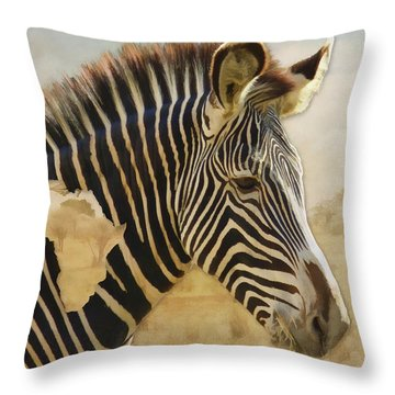 Heart Of Africa Throw Pillow by Kathleen Holley