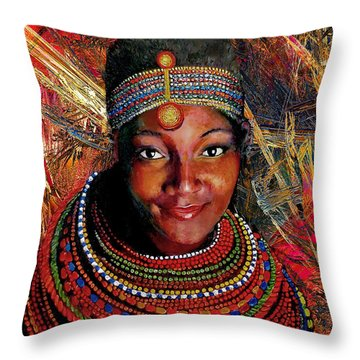 Heart Of Africa Throw Pillow by Michael Durst