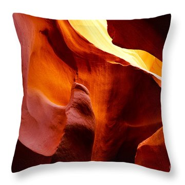 Heart Of Antelope Canyon Throw Pillow