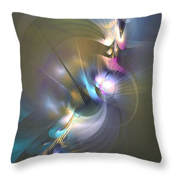 Heart Of Dragon - Abstract Art Throw Pillow