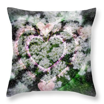 Heart Of Hearts Throw Pillow by Kay Novy