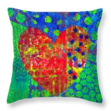 Heart Of Hearts Series - Cheers Throw Pillow by Moon Stumpp