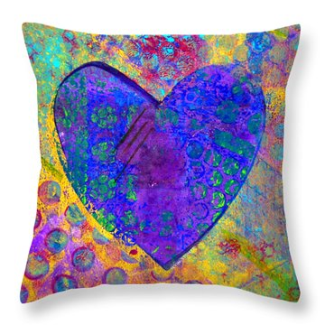 Heart Of Hearts Series - Compassion Throw Pillow by Moon Stumpp