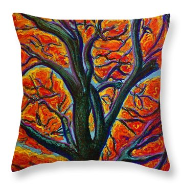 Heart Of It All Throw Pillow by D Renee Wilson