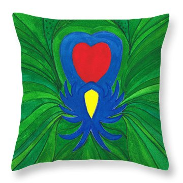 Heart Of Love.mexico Throw Pillow