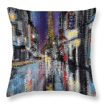 Heart Of Paris Throw Pillow by Dragica  Micki Fortuna