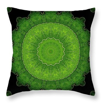 Heart Of Poplar Throw Pillow by Aliceann Carlton