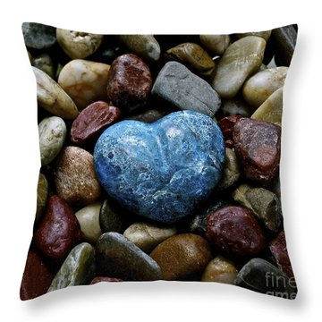 Heart Of Stone Throw Pillow by Lisa  Telquist