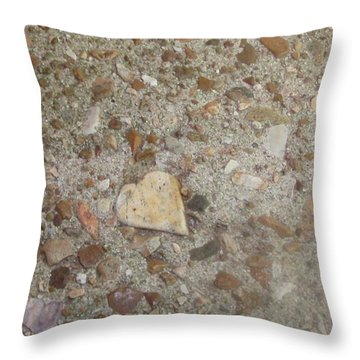 Throw Pillow featuring the photograph Heart Of Stone by Fortunate Findings Shirley Dickerson