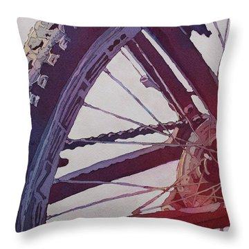 Heart Of The Bike Throw Pillow