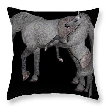Heart Of The Brood Mare Throw Pillow