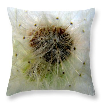 Heart Of The Dandilion Throw Pillow