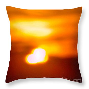 Heart Of The Day Throw Pillow