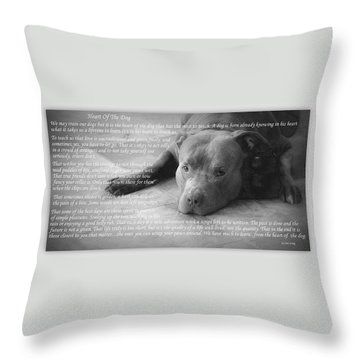 Heart Of The Dog Throw Pillow