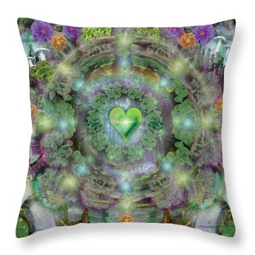 Heart Of The Forest Throw Pillow by Alixandra Mullins