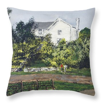 Heart Of The Lakes Throw Pillow by Cynthia Morgan