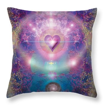 Heart Of The Universe Throw Pillow by Alixandra Mullins