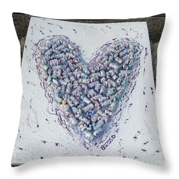 Heart Painting Throw Pillow