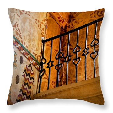 Heart Railing Throw Pillow