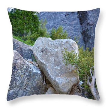 Heart Rock In Yosemite Throw Pillow