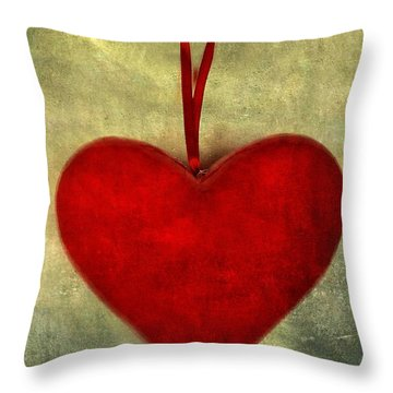 Heart Shape Throw Pillow by Bernard Jaubert