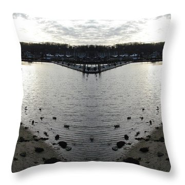 Heart  Shape In The Harbor Throw Pillow