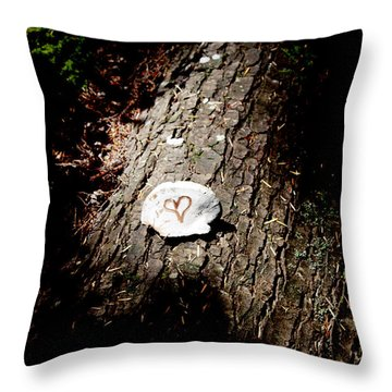 Heart Shape Stop Throw Pillow