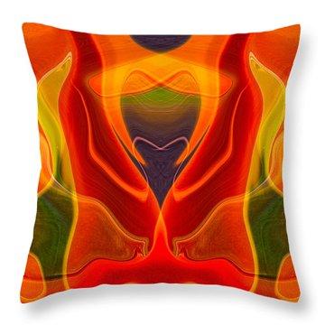 Heart Shaped Box Throw Pillow by Omaste Witkowski