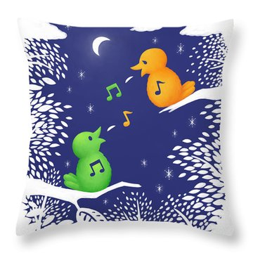 Heart Song Throw Pillow