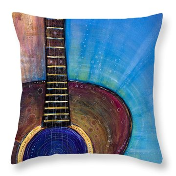 Heart Song Throw Pillow by Tanielle Childers