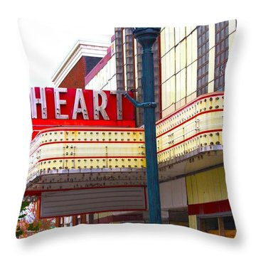 Heart Theatre Effingham Illinois  Throw Pillow