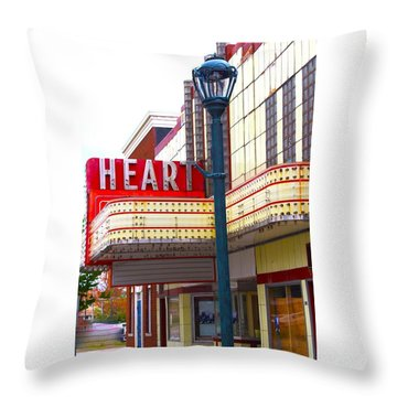 Heart Theatre Effingham Illinois  Throw Pillow
