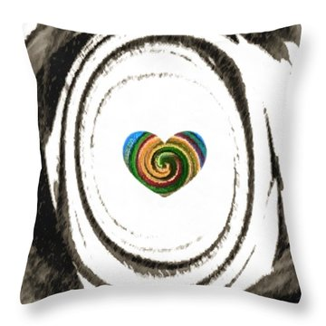 Heart Within Throw Pillow by Catherine Lott