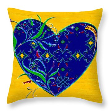 Heartbloom Throw Pillow by RC deWinter