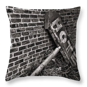 Heartbreak Hotel Bw Throw Pillow