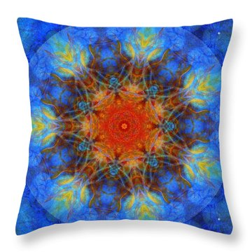 Heartfire Throw Pillow