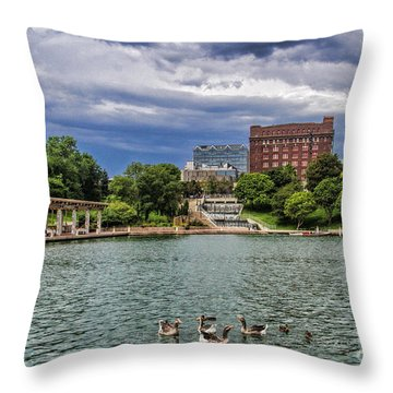 Heartland Of America Park Throw Pillow by Elizabeth Winter