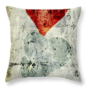 Hearts 1 Throw Pillow by Edward Fielding