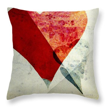 Hearts 6 Square Throw Pillow