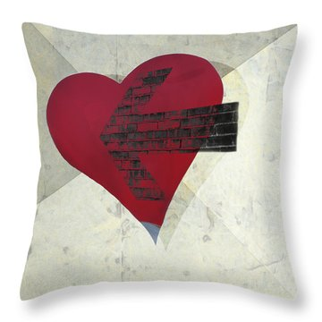 Hearts 7 Square Throw Pillow by Edward Fielding
