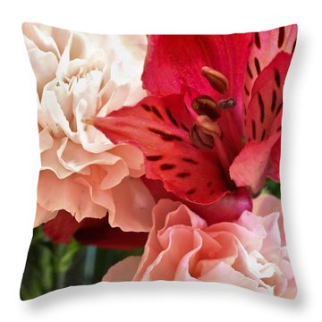 Heart's A Flutter Throw Pillow