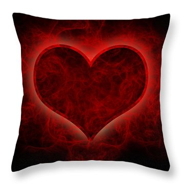 Heart's Afire Throw Pillow by Beverly Stapleton