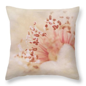 Hearts And Flowers Throw Pillow by A New Focus Photography