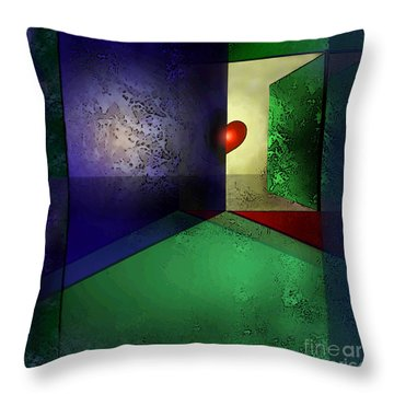 Heart's Desire Throw Pillow by Carol Jacobs