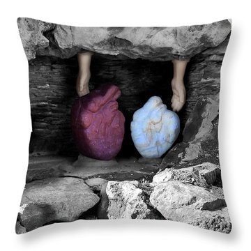 Hearts In Malachi Valentine Version Throw Pillow by Tarey Potter