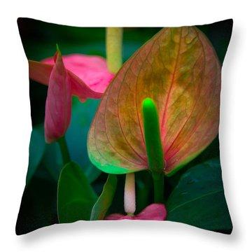 Hearts Of Joy Throw Pillow by Karen Wiles