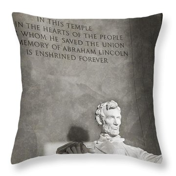 Hearts Of The People Throw Pillow
